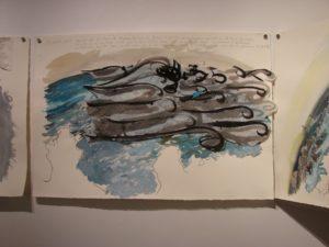 dessins de l'exposition Etats de mer téléphonés