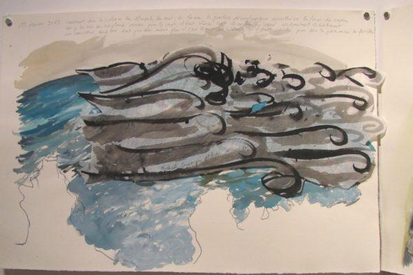 exposition résidence artiste Etats de mer téléphonés Ouessant